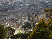 Vista extendida de Bogotá, Colombia Foto de archivo libre de regalías