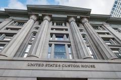 Vista exterior aduanas de Estados Unidos Imágenes de archivo libres de regalías