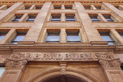 Vista exterior da construção famosa e histórica de Bradbury Imagem de Stock Royalty Free