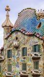 Vista exterior de la casa Batllo por Gaudi en Barcelona - España imagen de archivo libre de regalías