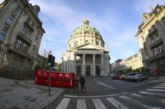 Vista exterior de la iglesia de mármol (la iglesia de Federico) copenhague Fotografía de archivo