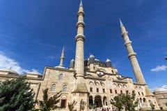 Vista exterior de la mezquita de Selimiye construida entre 1569 y 1575 en la ciudad de Edirne, Tracia del este, Turke imágenes de archivo libres de regalías