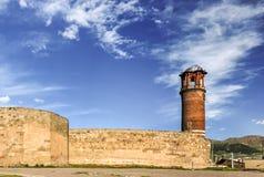 Vista exterior de la torre de Tray Minaret o de reloj imagenes de archivo