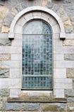 Vista exterior de la ventana de la iglesia Foto de archivo libre de regalías