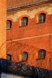 A vista exterior de uma cadeia velha Foto de Stock