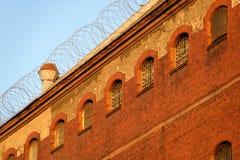 A vista exterior de uma cadeia velha Fotografia de Stock