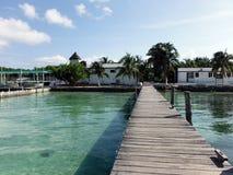 Vista exterior de un criadero del Caribe de la tortuga Fotos de archivo libres de regalías