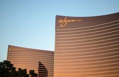 Vista exterior del hotel de la repetición y de Wynn Imagenes de archivo