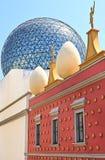 Vista exterior del museo de Dali, Figueras Imagen de archivo libre de regalías
