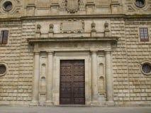 Vista exterior del trabajo magnífico de la arquitectura en la ciudad de Salamanca Fotografía de archivo libre de regalías
