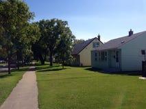 Vista exterior em casas Imagens de Stock