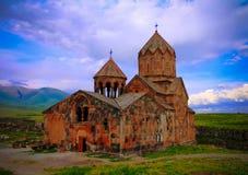 Vista exterior en al monasterio de Hovhannavank, Ohanavan, provincia de Aragatsotn, Armenia imagen de archivo