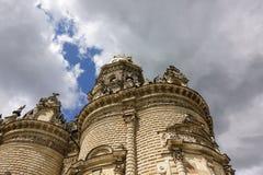 Vista exterior ? igreja do sinal do Virgin Blessed na igreja na regi?o de Moscou do podolsk, R?ssia de Dubrovitsy Znamenskaya fotografia de stock
