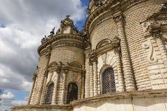 Vista exterior ? igreja do sinal do Virgin Blessed na igreja na regi?o de Moscou do podolsk, R?ssia de Dubrovitsy Znamenskaya fotografia de stock royalty free