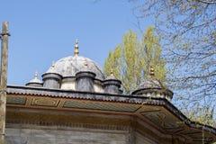 Vista externa de la bóveda en arquitectura del otomano Imagen de archivo
