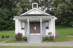 Vista externa de la escuela de Amish imagen de archivo libre de regalías