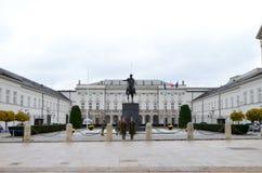Vista externo do palácio presidencial em Varsóvia, Polônia Fotografia de Stock