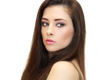 Vista fêmea bonita da mulher Imagem de Stock Royalty Free