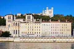 Vista famosa de Lyon imagens de stock royalty free