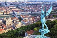 Vista famosa de Lyon Fotos de archivo libres de regalías