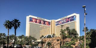 Vista famosa del casinò a Las Vegas, Nevada, U.S.A. fotografia stock libera da diritti