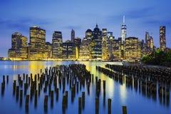Vista famosa di New York fotografie stock libere da diritti