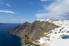 Vista famosa sobre a vila de Oia na ilha Santorini, Grécia Foto de Stock Royalty Free
