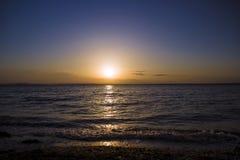 Vista fantástica grande no mar Foto de Stock