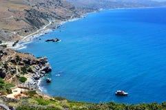 Vista fantastica della spiaggia di Preveli Immagini Stock Libere da Diritti