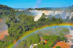 Vista fantastica delle cascate di Iguazu Immagini Stock