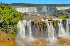 Vista fantastica delle cascate di Iguazu Fotografia Stock Libera da Diritti