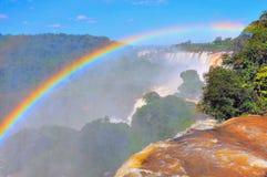 Vista fantastica delle cascate di Iguazu Fotografie Stock Libere da Diritti