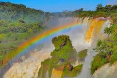 Vista fantastica delle cascate di Iguazu Immagine Stock