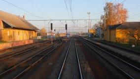Vista ferroviaria di viaggio video d archivio