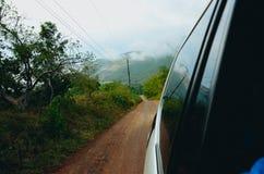 Vista fora de um carro Fotografia de Stock Royalty Free
