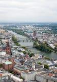Vista a Frankfurt-am-Main fotografía de archivo