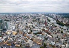 Vista a Frankfurt-am-Main fotografía de archivo libre de regalías