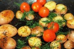 Vista fritta verdure deliziose croccanti dalla cima Immagine Stock Libera da Diritti