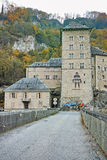 Vista frontal da fortaleza do St Maurice History, Suíça Imagem de Stock