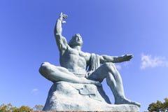 Vista frontal de la estatua de la paz Foto de archivo