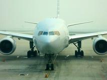 Vista frontal do avião Foto de Stock