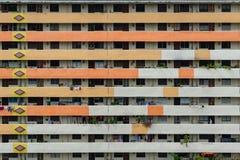 Vista frontale degli appartamenti tradizionali di Singapore, Camera di Singapore Fotografia Stock Libera da Diritti