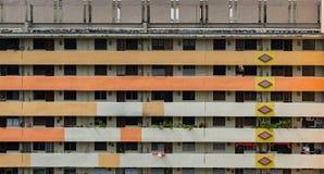 Vista frontale degli appartamenti tradizionali di Singapore, Camera di Singapore Immagine Stock