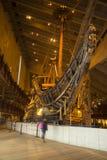 Vista frontale dei VASI antichi della nave da guerra Immagine Stock