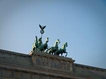 Vista frontale del cancello di Brandeburgo Fotografia Stock Libera da Diritti