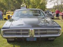 Vista frontale del caricatore di 1972 Dodge Fotografia Stock