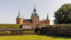 Vista frontale del castello di Kalmar Immagini Stock Libere da Diritti