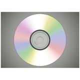 Vista frontale del disco realistico di DVD o del CD Fotografie Stock Libere da Diritti
