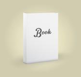 Vista frontale del libro in bianco Fotografia Stock
