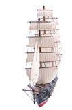 Vista frontale del modello di nave della vela immagine stock libera da diritti